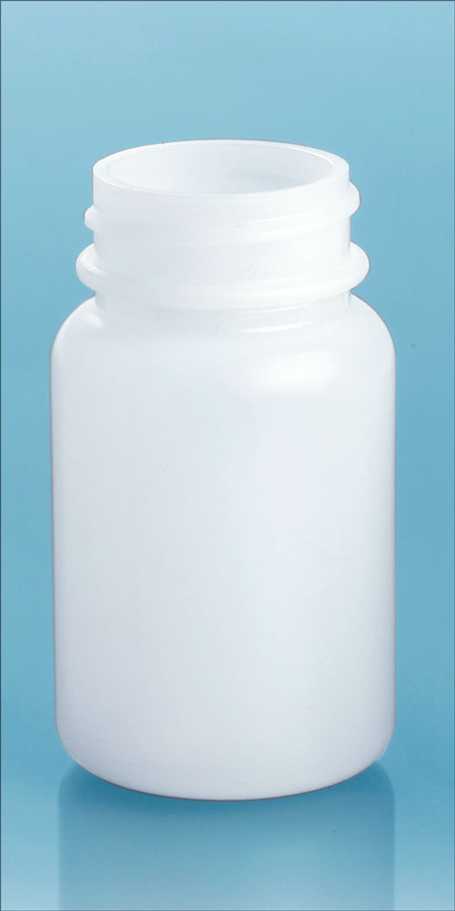 60 cc Natural HDPE Pharmaceutical Rounds