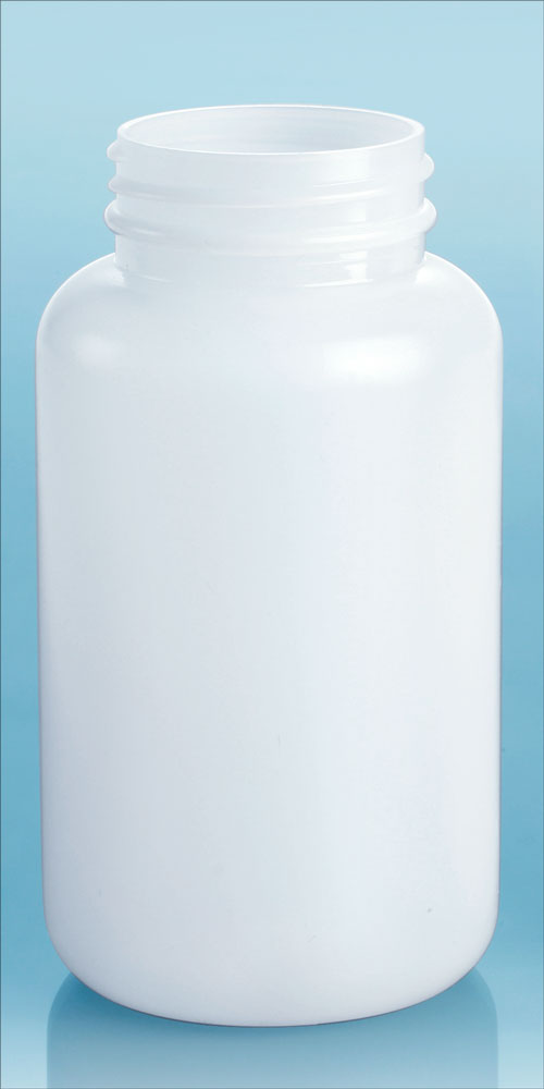 250 cc Natural HDPE Pharmaceutical Rounds