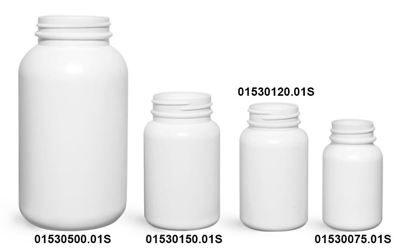 Original White HDPE Pharmaceutical Rounds
