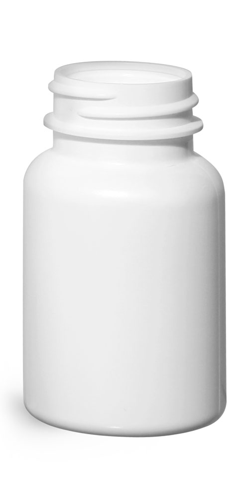 75 cc Plastic Bottles, White HDPE Pharmaceutical Round (Bulk), Caps NOT Included