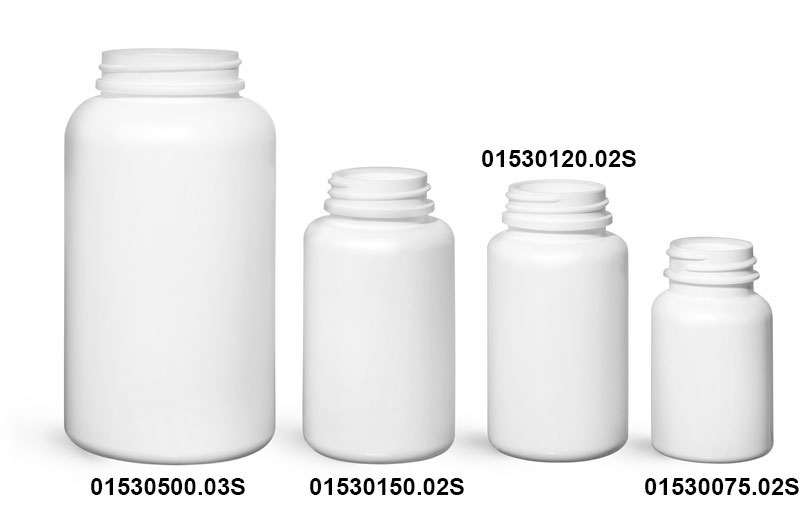 New White HDPE Pharmaceutical Rounds