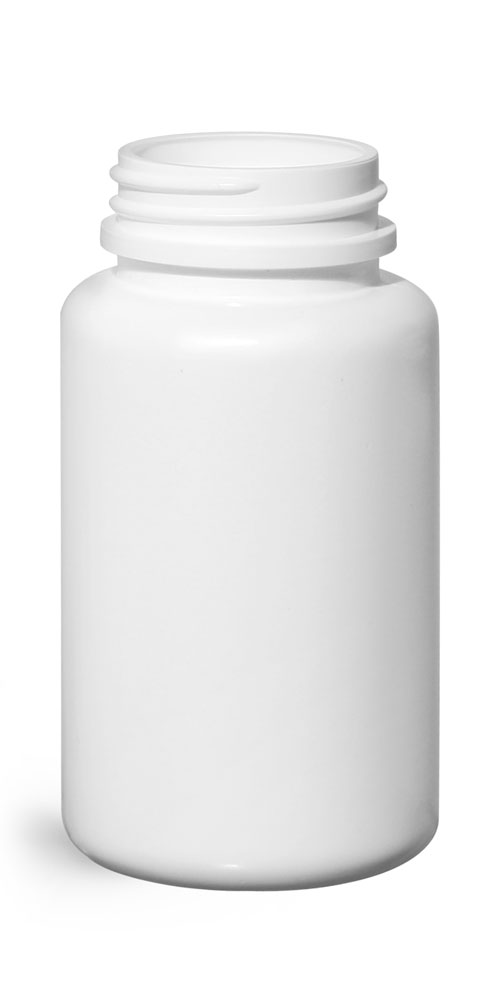 120 cc Plastic Bottles, White HDPE Pharmaceutical Round (Bulk), Caps NOT Included