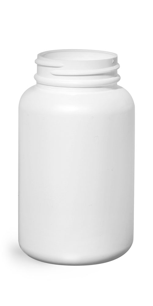 200 cc White HDPE Pharmaceutical Round Bottles (Bulk), Caps NOT Included