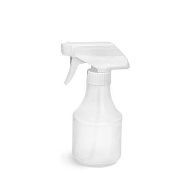 1L HDPE Empty Natural Plastic Bottles Spray Bottle White Trigger Pump