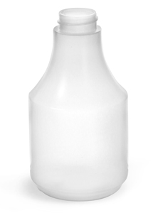 Natural HDPE Spray Bottles (Bulk), Caps NOT Included