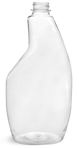 22 oz Clear PET Sprayer Bottles (Bulk), Caps NOT Included