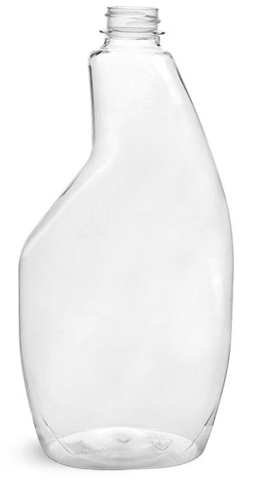 22 oz Clear PET Sprayer Bottles (Bulk), Caps NOT Included