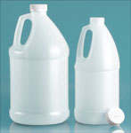 Natural Plastic Jugs w/ White Child Resistant Caps