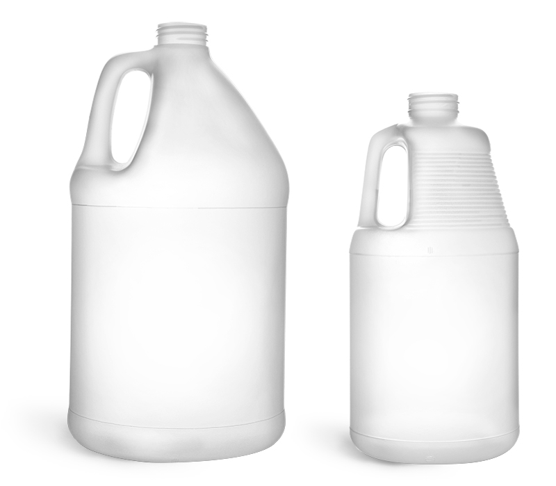 1 gal  Natural HDPE Bottles (Bulk), Caps NOT Included