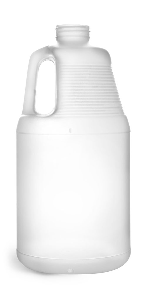 64 oz Natural HDPE Bottles (Bulk), Caps NOT Included