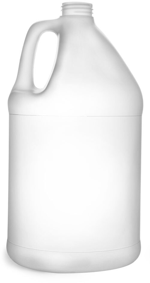 Natural HDPE Bottles (Bulk), Caps NOT Included