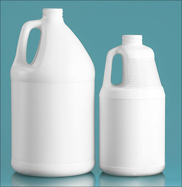 White HDPE Jugs (Bulk), Caps NOT Included
