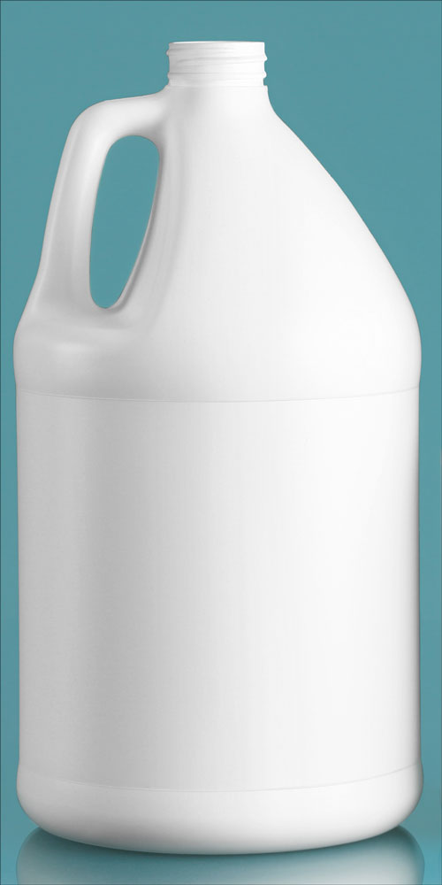 1 Gal White HDPE Jugs (Bulk), Caps NOT Included