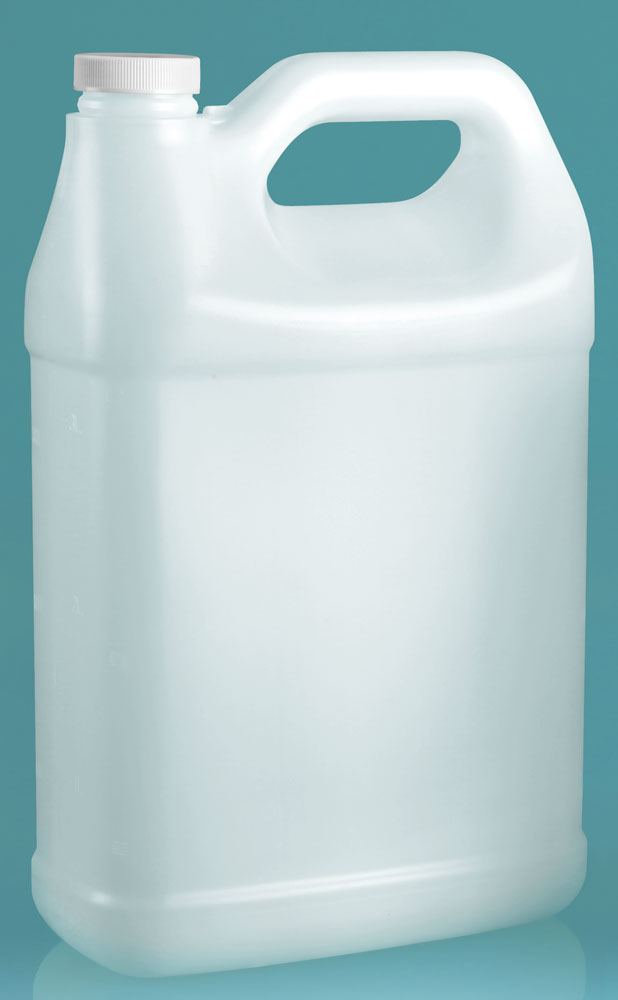 1 gal Natural F-Style Jugs w/ Foam Induction Lined Caps