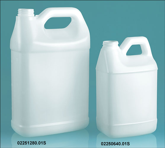 Natural HDPE F-Style Jugs (Bulk), Caps NOT Included