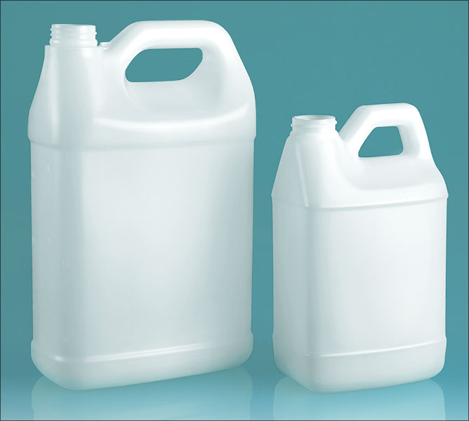 Natural HDPE F Style Handle Jugs w/  Horizontal Top Handle