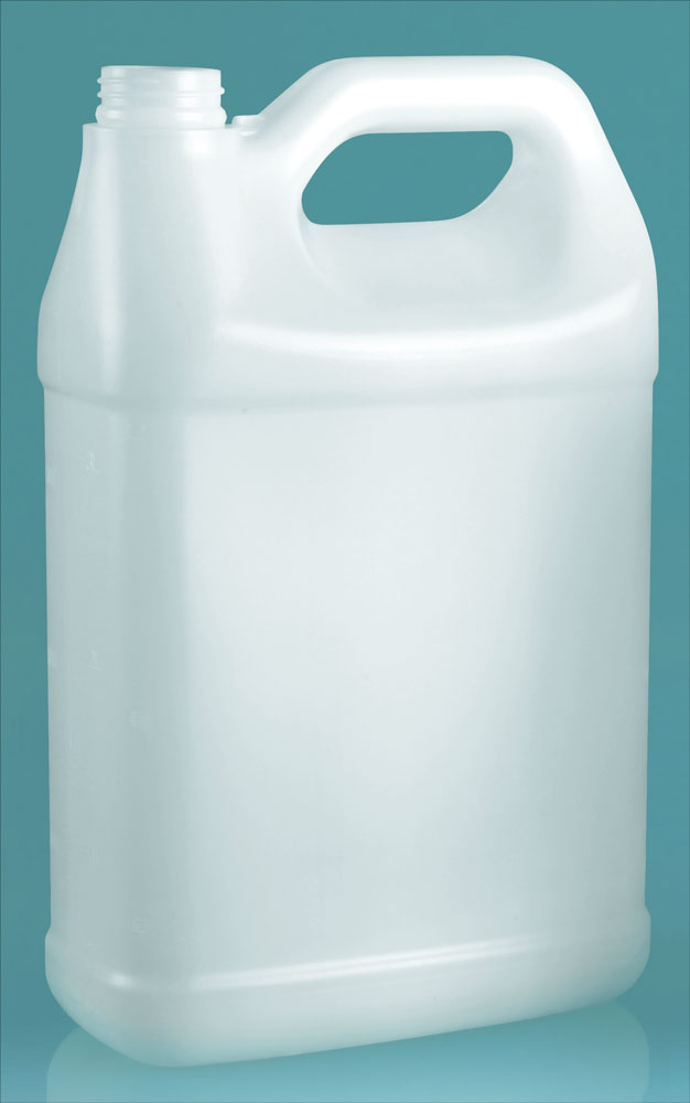 1 Gal Natural HDPE F Style Handle Jug Horizontal Top Handle