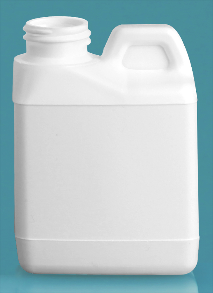 4 oz White HDPE F-Style Jugs (Bulk), Caps NOT Included