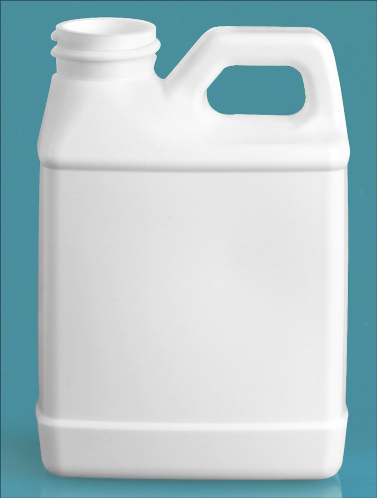 8 oz   White HDPE F-Style Jugs (Bulk), Caps NOT Included
