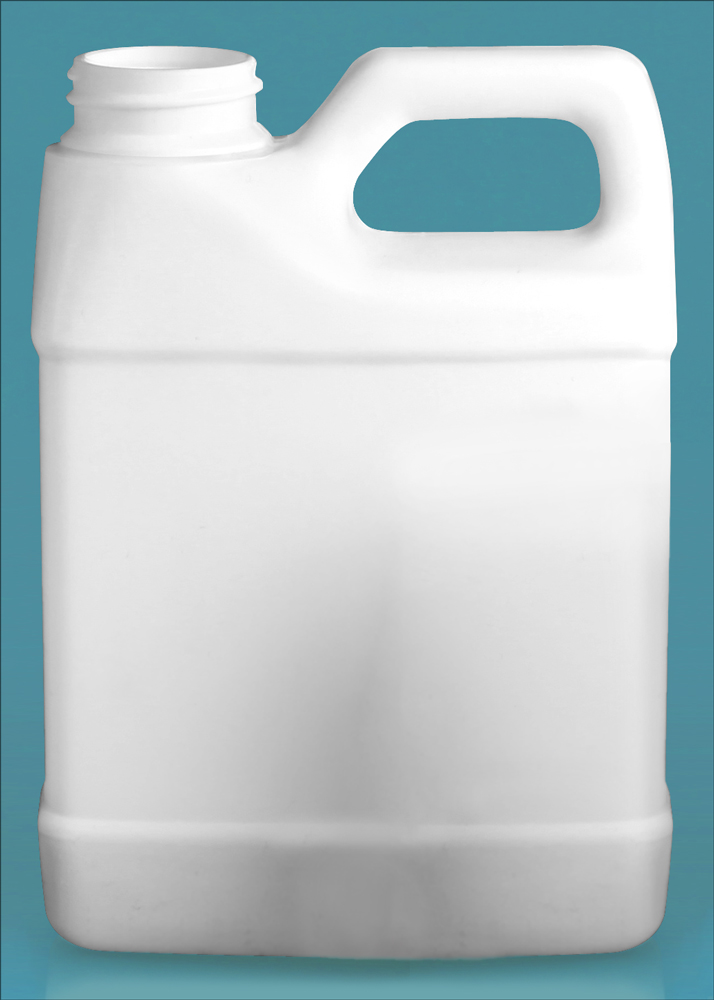 16 oz White HDPE F-Style Jugs (Bulk), Caps NOT Included