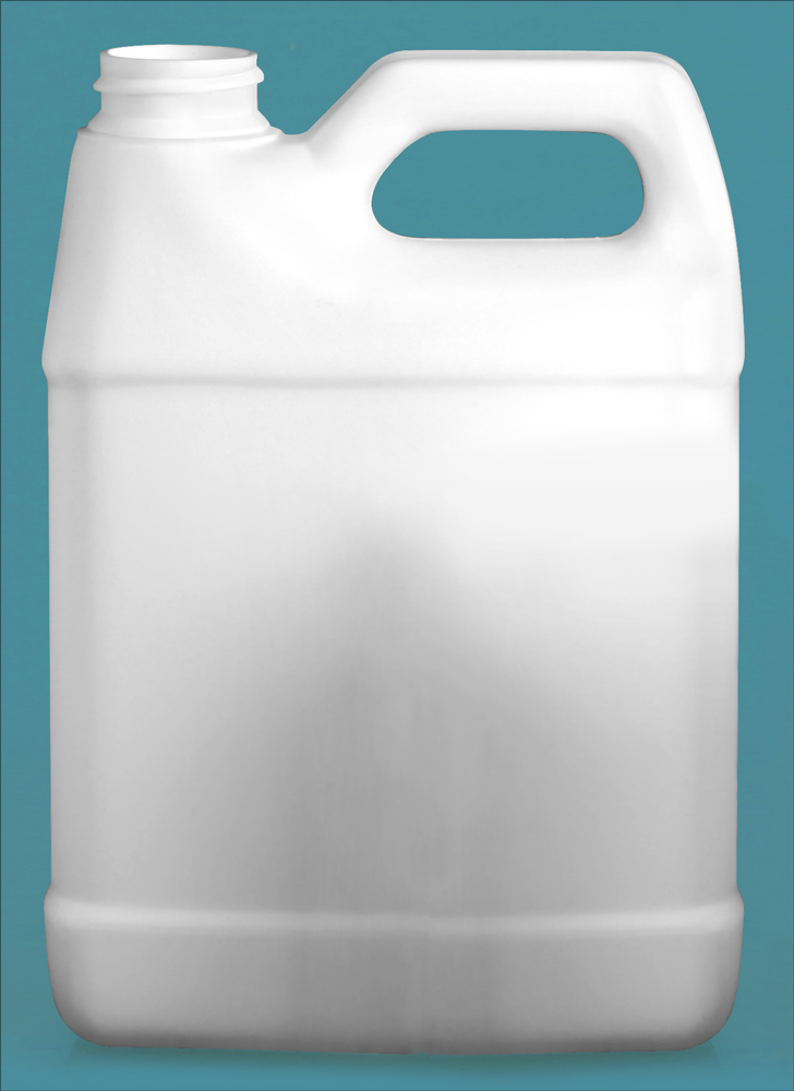32 oz White HDPE F-Style Jugs (Bulk), Caps NOT Included