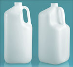 1 gal Natural HDPE Square Handle Jugs