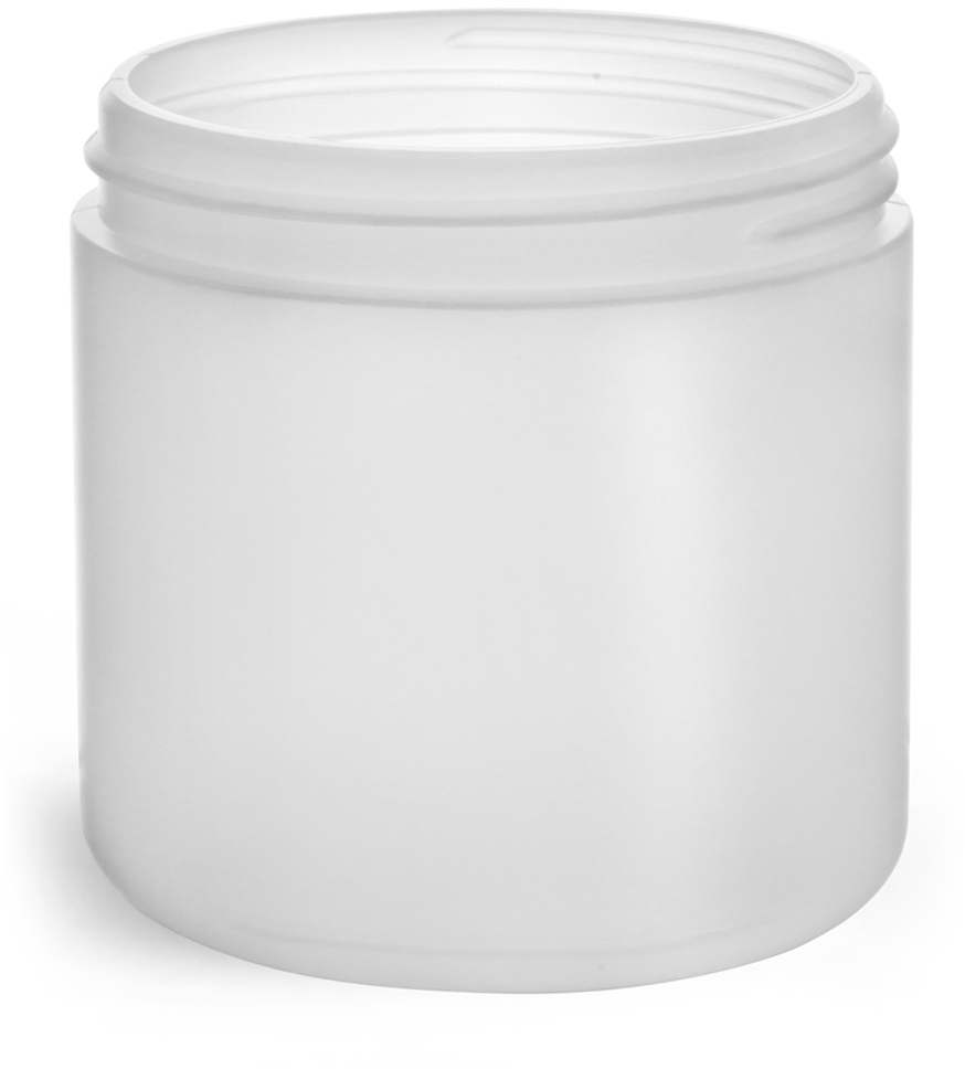 Natural HDPE Straight Sided Jars (Bulk), Caps Not Included