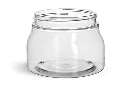 Plastic Jars, Clear PET Tuscany Jars Only (Bulk)