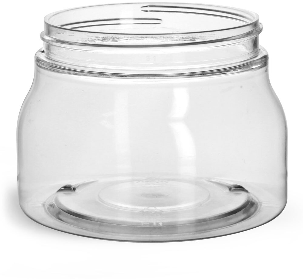 Clear PET Tuscany Jars Only (Bulk), Caps Not Included