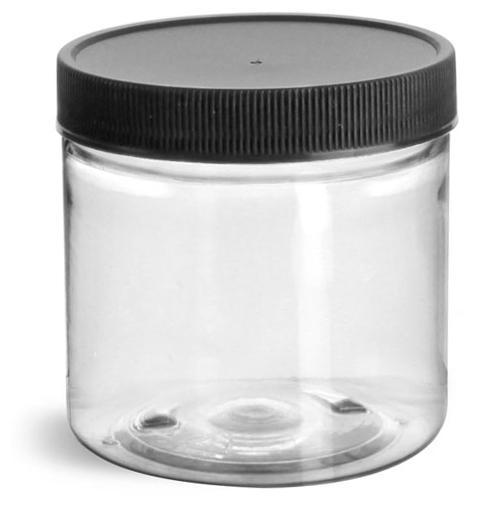4 oz Clear Pet Straight Sided Jars