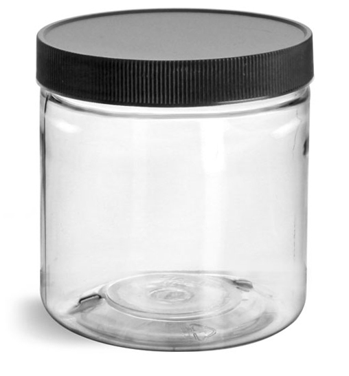 8 oz Clear Pet Straight Sided Jars