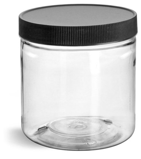 16 oz Clear Pet Straight Sided Jars