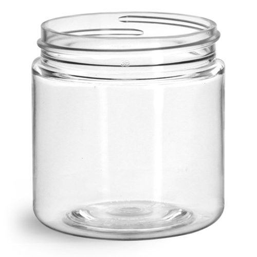 4 oz Clear PET Straight Sided Jars (Bulk), Caps Not Included
