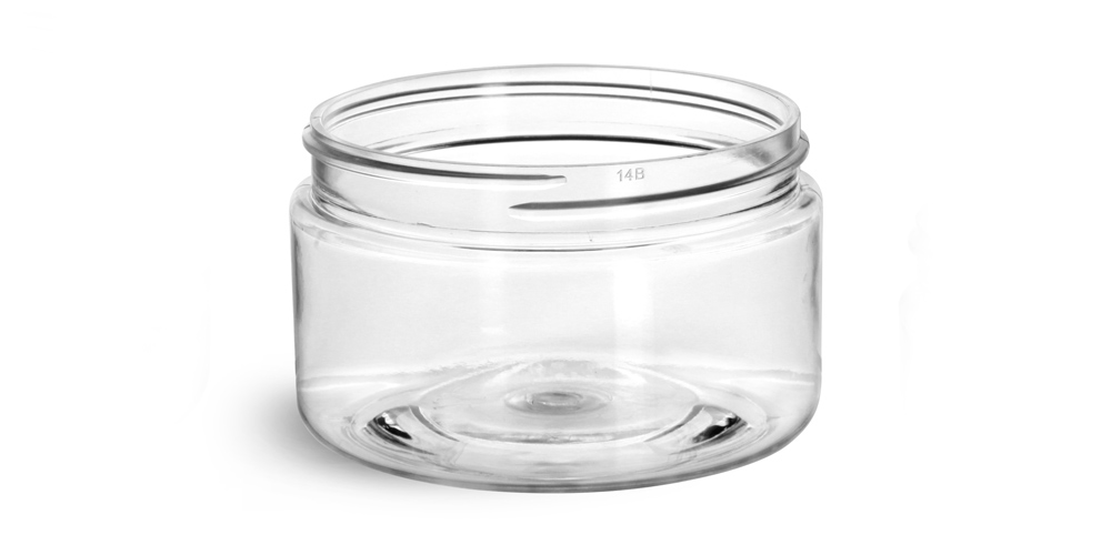 4 oz Clear PET Heavy Wall Jars (Bulk), Caps Not Included