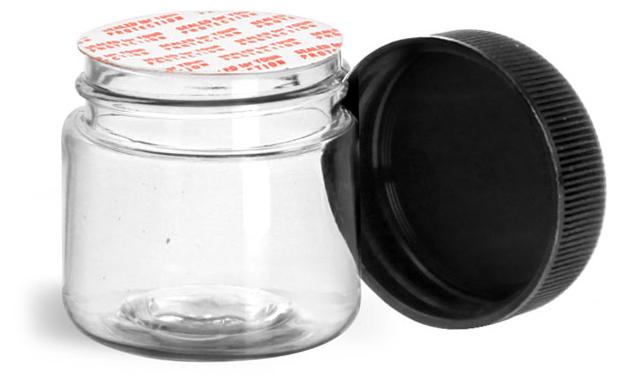 1 oz Clear Pet Straight Sided Jars