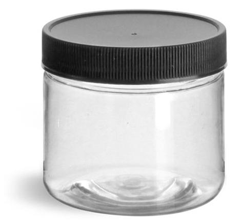 2 oz Clear Pet Straight Sided Jars