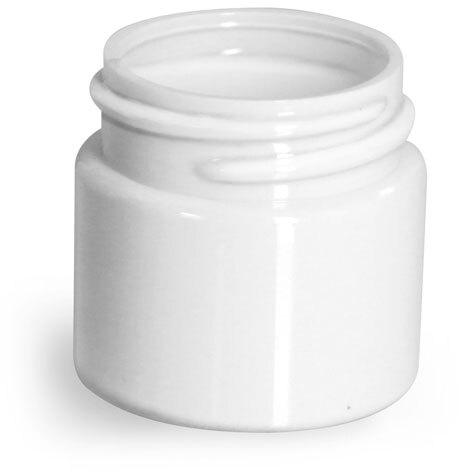 Plastic Jars, White PET Straight Sided Jars (Bulk) Caps Not Included