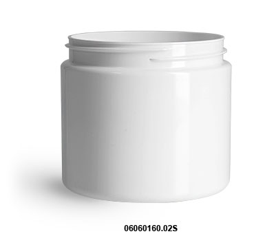 New White PET Straight Sided Jars