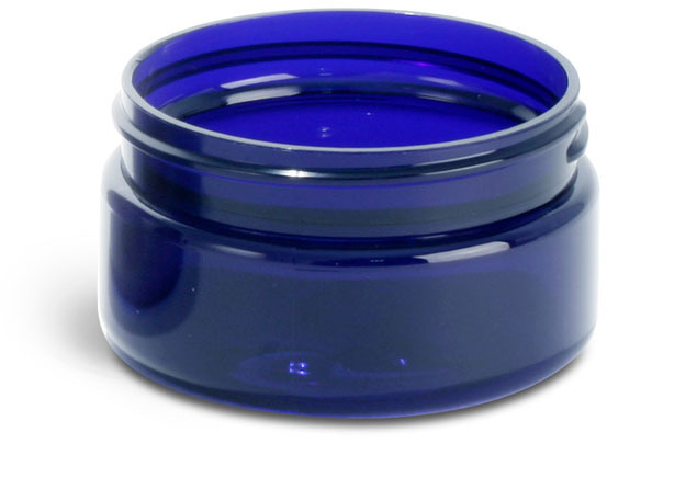 Blue PET Heavy Wall Jars (Bulk), Caps Not Included