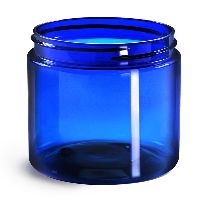 Product Replacement - Blue PET Straight Sided Jars