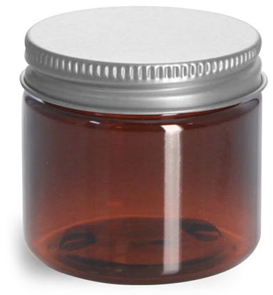 2 oz Amber PET Jars w/ Lined Aluminum Caps