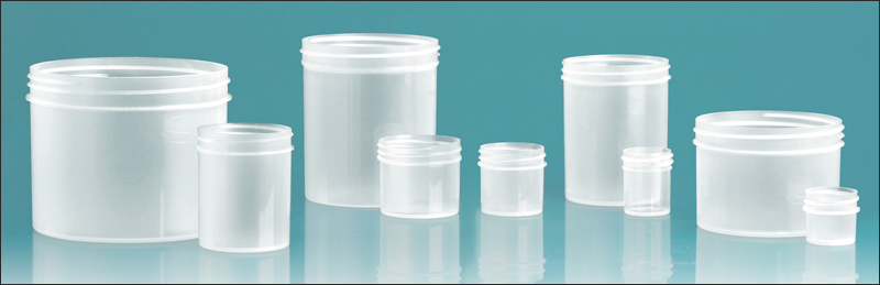 8 oz Natural Polypropylene Jars