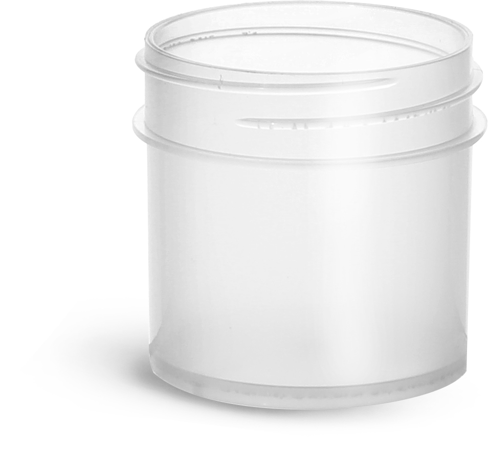 1 oz Natural Polypropylene Jars