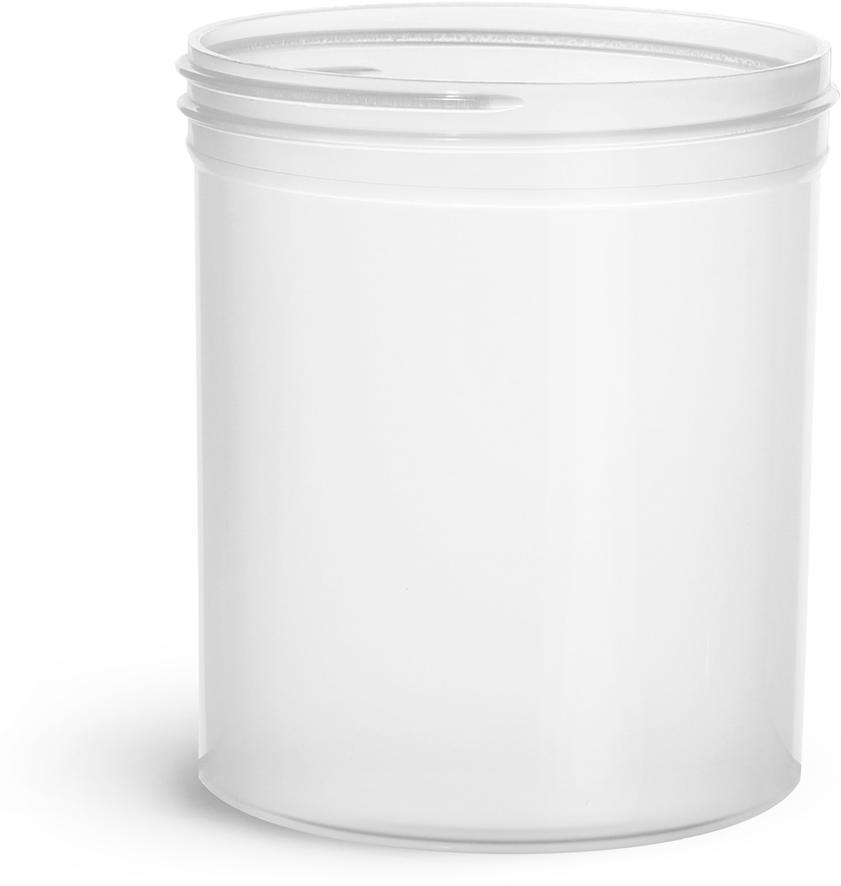 16 oz Natural Polypropylene Jars