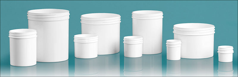 White Polypropylene Jars  (Bulk), Caps Not Included