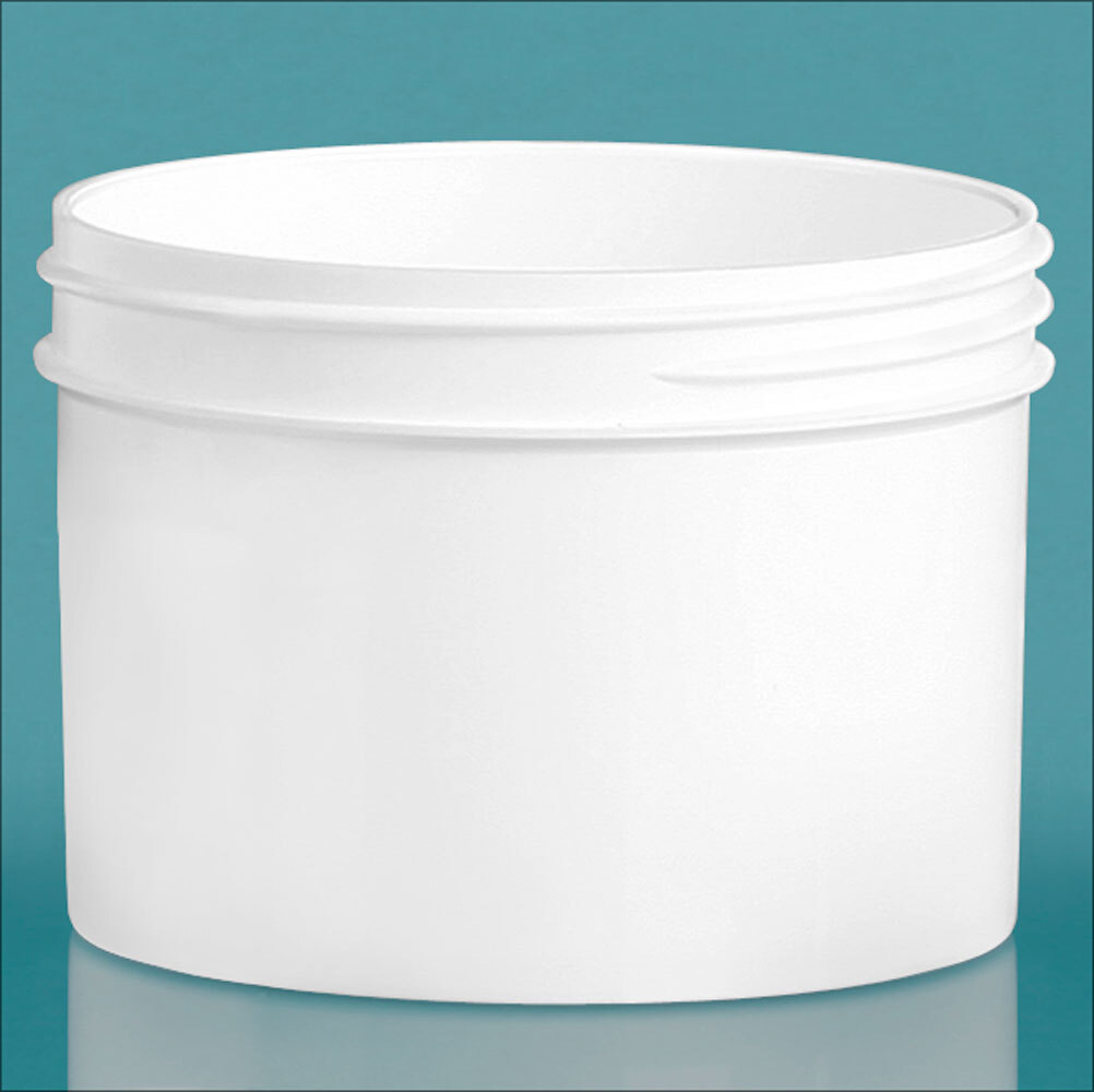 White Polypropylene Jars  (Bulk), Caps Not Included