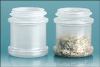 Plastic Jars, Natural Polypropylene Spice Jars (Bulk) Caps Not Included
