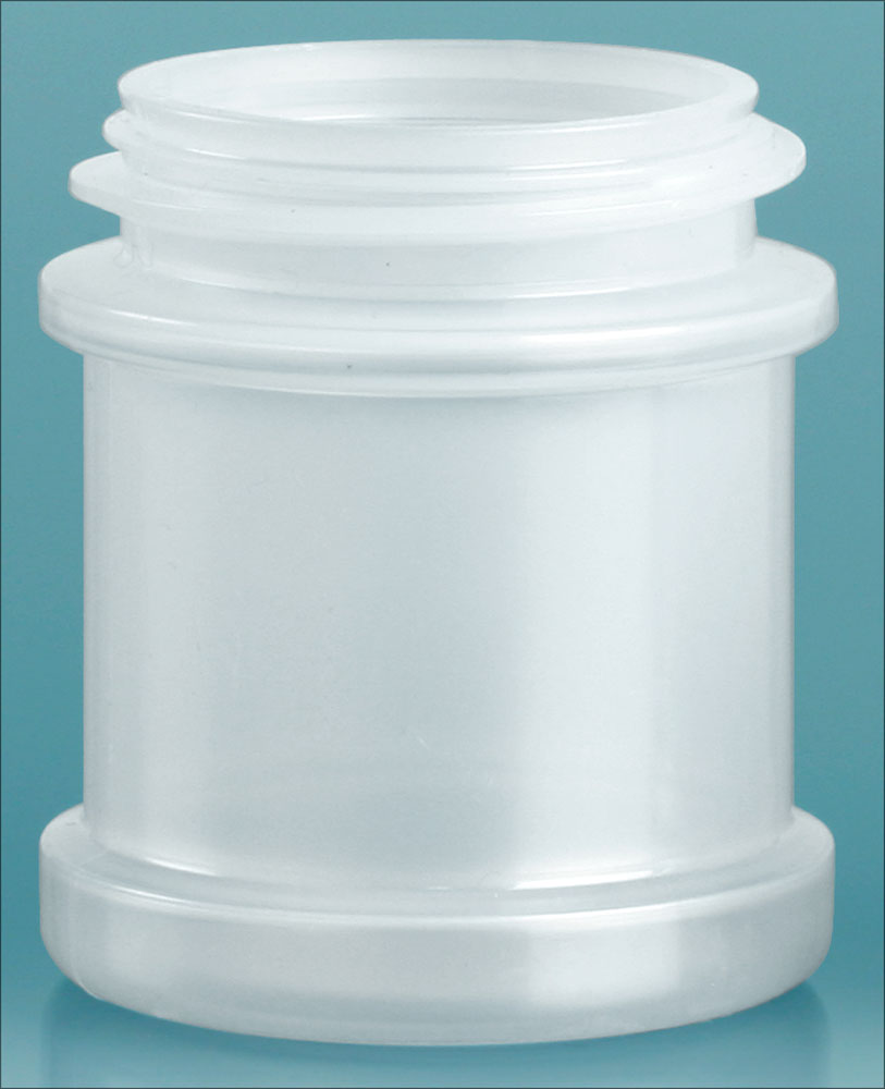 1 oz Natural Polypropylene Spice Jars (Bulk), Caps Not Included