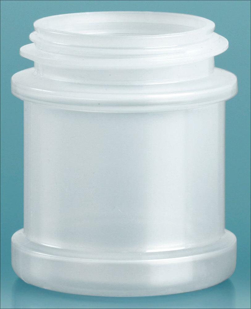 Natural Polypropylene Spice Jars (Bulk), Caps Not Included