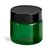 1 oz Green PET Straight Sided Jars w/ Black Smooth Plastic Lined Caps